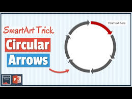 Arrow Ring Chart Powerpoint How To Create Circular Arrows In Powerpoint Using Smartart