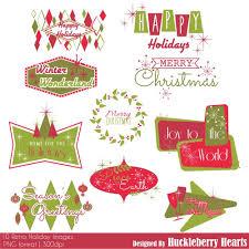 Retro Holidays Retro Holiday Images Clipart