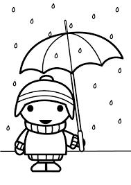 Kleurplaat Parasol Ausmalbild Ente Mit Schirm Im Regen Ausmalbilder