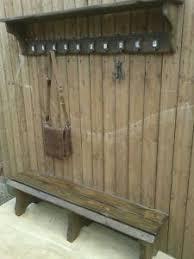 10 Hook Coat Rack SET of 100 hook coat rack and a bench school style rustic reclaimed 75