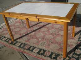 tile top dining table. Tile Top Kitchen Table Diy Glass Dining With Outstanding Wall. «