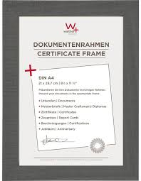 white certificate frame a4 certificate frame home gray walther fotoalben discount de