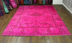 new in stock 8x10 hot pink overdyed rug lucys room rugs pink hot pink rug hot
