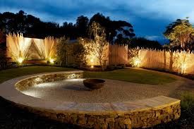 fence lighting ideas. garden fence lighting ideas landscape beach style with gravel walkway stacked stone bench fire pit d
