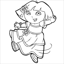 Free Dora The Explorer Coloring Pages Coloring Store