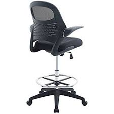 Modway Advance Drafting Chair In Black - Reception Desk Tall Office  For Adjustable Amazon.com