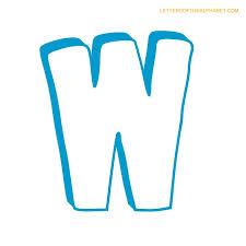letters alphabet bubble w