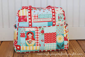 Mommy by day Crafter by night: My Quilted Weekender Bag & I loved this project because I was able to incorporate all of my favorite  fabrics and scraps into one bag. It has all my favorite colors, patterns,  ... Adamdwight.com