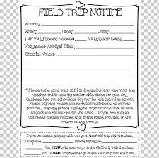 Permission Slip For Field Trips Permission Slip Field Trip Student Homework Document Png