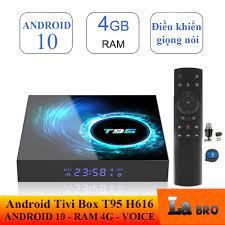 [HCM]Android tivi box T95 H616 mới 4GB RAM 32GB ROM android 10 bluetooth  cài sẵn các ứng dụng giải trí