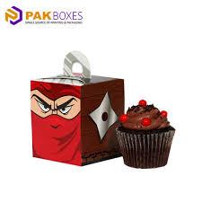 High Quality Custom Printed Cupcake Boxes Pakboxes