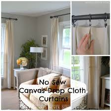 Diy Drop Cloth Curtains Canvas Drop Cloth No Sew Curtains
