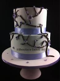 Cherry blossom (lilac) wedding cake. Dairy free and egg free chocolate cake  | Egg free chocolate cake, Cake, Chocolate cake