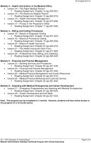 Administrative Professional Certificate Education Training Plan Medical Administrative Assistant