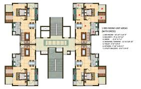 1 Bhk Layout Design 1 Bhk Apartment Cluster Tower Layout Building Layout