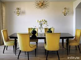 Yellow dining room chairs Mustard Yellow Dining Chairs Decorpad Yellow Dining Chairs Transitional Dining Room Instyle Magazine