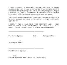 Basic Liability Waiver Form New Photography Waiver Template Liability Accident Waiver Template Auto