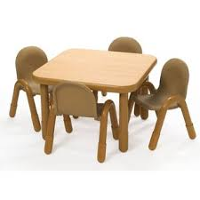 preschool table and chairs. Square Baseline Preschool Table And Chair Set In Natural Chairs L