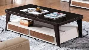 glass top coffee table with drawers rectangular storage drawers ivory black glass top coffee table ct