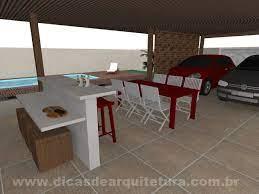 » piscina » 03 vagas de garagem cobertas. Garagem Com Churrasqueira Dicas De Arquitetura