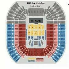 Cma 2019 Music Festival Gold Circle Front Row 1 Ticket