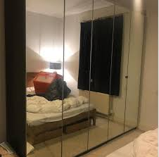 ikea pax wardrobe with mirrored doors and all rails drawers bought for 750 ing