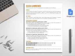 One Page Resume Format Doc Google Docs Resume Template By Resume Templates On Dribbble
