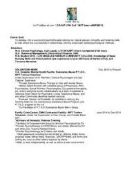Mft Intern Resumes Resume Examples Organizational Skills