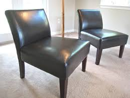 armless leather chairs. Elegant Armless Leather Slipper Chair Chairs W