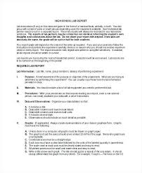 College Lab Report Template Microbiology Format Sample