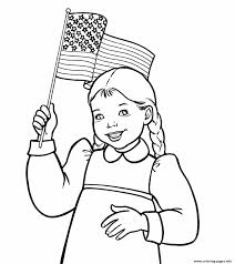 Small Picture girl waving american flag Coloring pages Printable