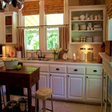 rustic kitchen curtains hanging
