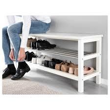 Tjusig Bench With Shoe Storage White Ikea For Ikea Storage Bench