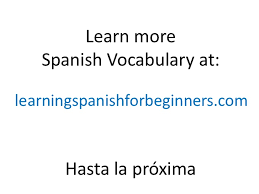 spanish vocabulary spanish words kitchen 1