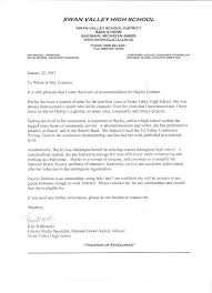 Letter Of Recommendation For Community Service Award Recommendation Letter For Senior In High School Sample