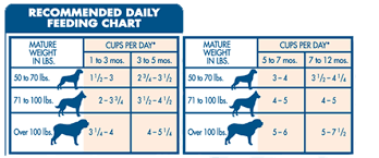 Fromm Puppy Feeding Chart 20 Matter Of Fact Recommended Feeding Chart For Dogs