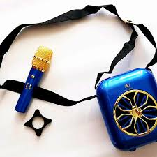 Loa bluetooth YS-A20 nghe nhạc hát karaoke có kèm Mic không dây | loa kéo  2tek