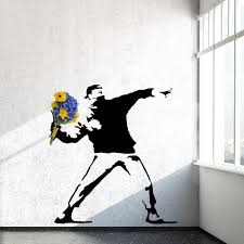 Rage, The Flower Thrower - Banksy Wall Decal - WallsNeedLove | Banksy wall  art, Banksy, Sticker wall art