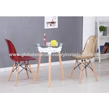 china round glass dining table for small spaces wooden leg table