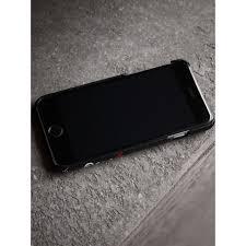 Custodia Per Iphone 7 In Pelle Con Disegni Stampati Nero Burberry