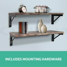 rustic wood wall shelf rustic industrial diy pipe shelf storage vintage wooden floating