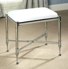 bathroom vanity bench stone bath stools benches black wood chrome white  vinyl padded vanities
