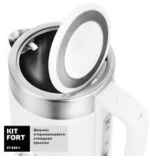 <b>Чайник Kitfort KT</b>-<b>659</b>-1, белый