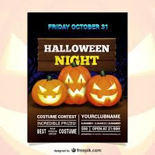 Costume Contest Flyer Template Halloween Night Costume Contest Flyer Vector Free Download