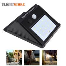 outdoor sensor lights new led solar power pir motion sensor wall light outdoor waterproof