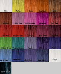 Stargazer Color Chart Stargazer Semi Permanent Hair Dye Colorchart Colori