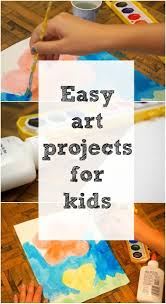 here are a bunch of easy art and craft ideas for kids using items around the house lots of inexpensive and simple art projects for kids to choose from and
