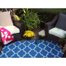 fab habitat woven from recycled plastic indoor outdoor coastal area rug common 4