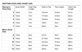 Knitting Sock Measurement Chart Pin By Caleigh Toppins On Crochet Projects Knitting Socks