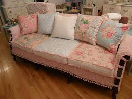 shabby chic living room furniture. Shabby Chic Slipcovered Sofa Vintage Chenille And Roses Fabrics Shabby-chic -style-living Living Room Furniture A